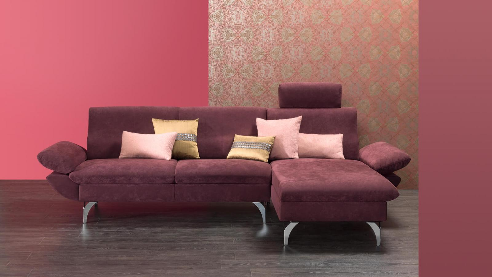 horst collection schweiz switzerland suisse malans sofa canape design moebel furniture meubles rot red rouge alcantara